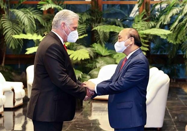 越南国家主席阮春福圆满结束对古巴进行正式访问 hinh anh 1