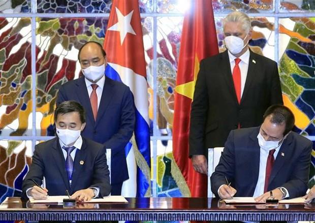 越南国家主席阮春福圆满结束对古巴进行正式访问 hinh anh 2