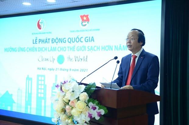 """越南正式启动2021年""""让世界更清洁""""运动 hinh anh 2"""