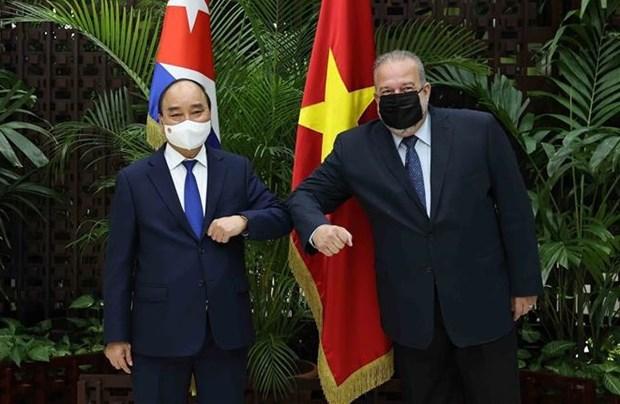 越南国家主席阮春福圆满结束对古巴进行正式访问 hinh anh 3