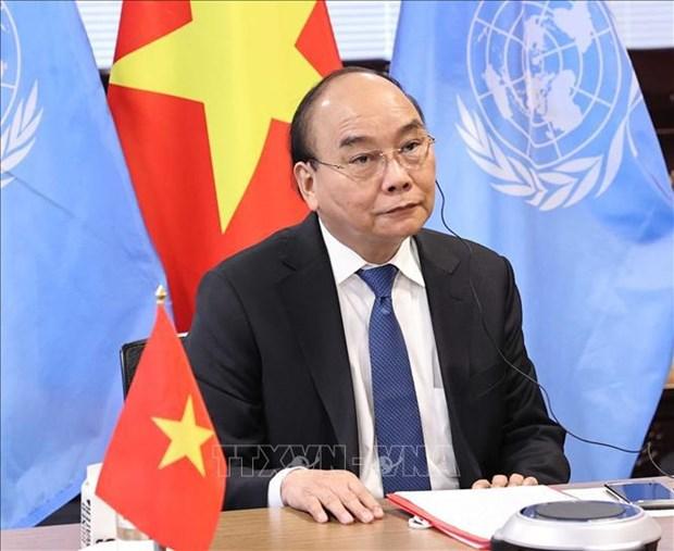 越南国家主席阮春福出席全球抗击新冠肺炎疫情峰会 hinh anh 2