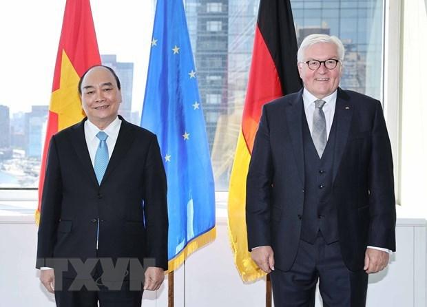 越南国家主席阮春福会见德国总统 离开纽约市启程回国 hinh anh 1