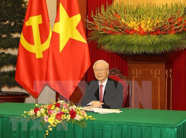 越柬老领导人会晤在河内举行 hinh anh 1