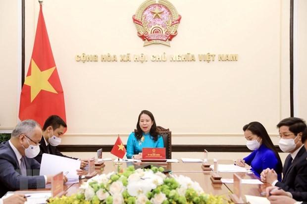 越南国家主席武氏映春与尼日利亚副总统耶米·奥辛巴乔通电话 hinh anh 1