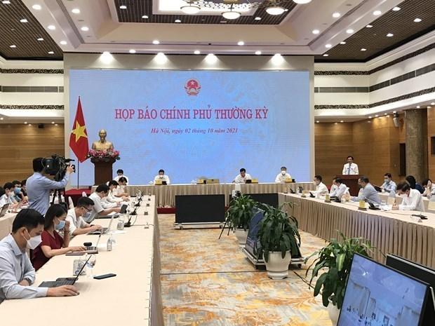 政府新闻发布会:制定两个经济增长方案 hinh anh 1