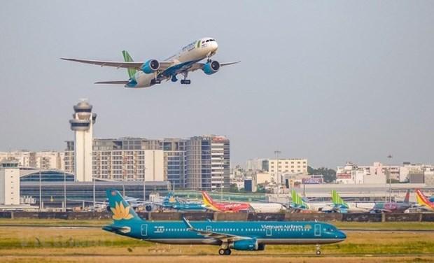 各家航空公司的国内航班从10月1日起恢复运营 hinh anh 1