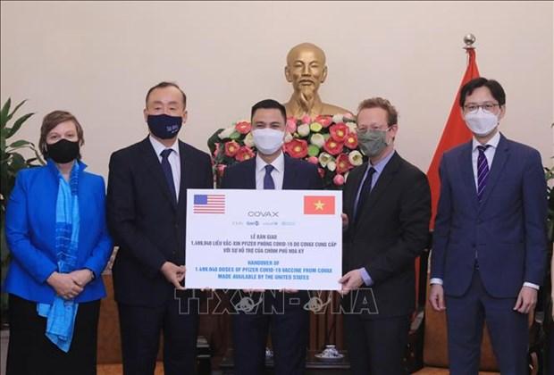 越南接受150万剂新冠疫苗 hinh anh 1