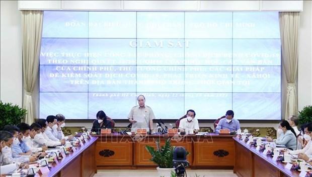 国家主席阮春福:控制好疫情是经济复苏的先决条件 hinh anh 1
