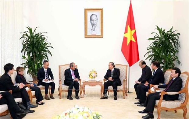 越南政府副总理张和平:越南与新加坡通过刑事司法协助加强打击犯罪合作 hinh anh 2