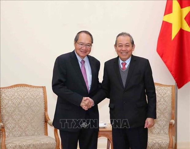 越南政府副总理张和平:越南与新加坡通过刑事司法协助加强打击犯罪合作 hinh anh 1