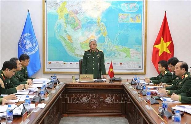 越南为派遣工兵队参加联合国维和行动做出积极准备 hinh anh 1