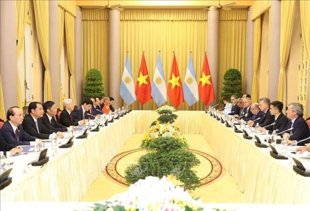 越南与阿根廷发表联合公报 hinh anh 1