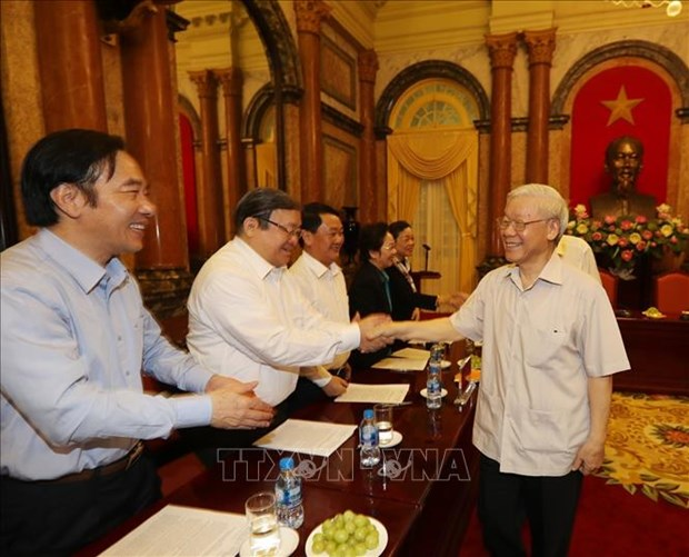 越共中央总书记、国家主席阮富仲:反腐败工作以建为本 重在防范 hinh anh 1