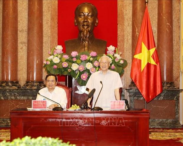 越共中央总书记、国家主席阮富仲:反腐败工作以建为本 重在防范 hinh anh 2