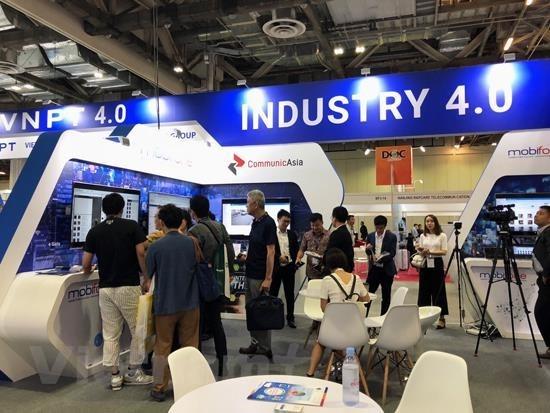 """2019新加坡国际通信展:""""越南制造""""技术产品给参观者留下深刻印象 hinh anh 2"""