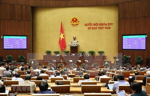 越南第14届国会第8次会议颁布新决议 hinh anh 1
