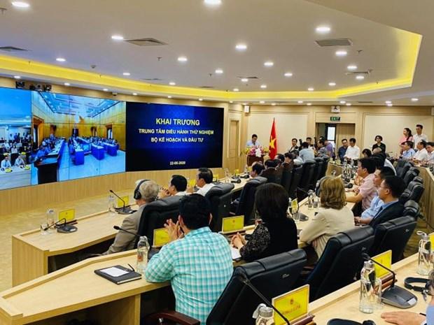 越南计划与投资部正式试运综合调控中心 hinh anh 1