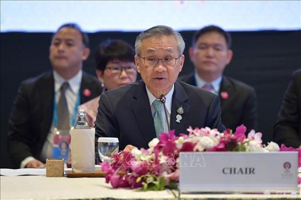 第53届东盟外长会议:泰国突出疫情后复苏计划 hinh anh 1