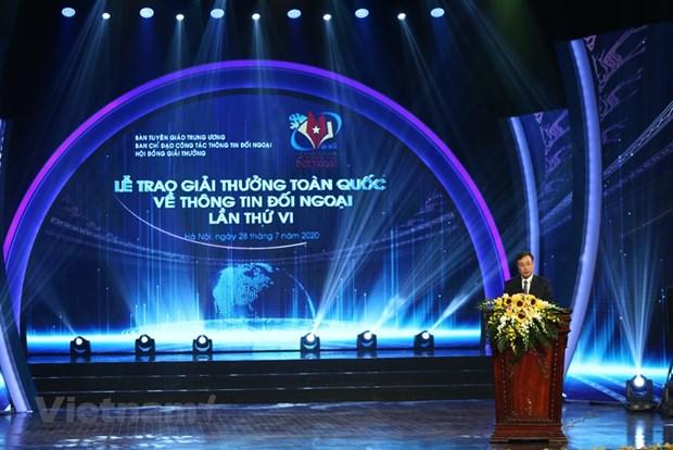 组图:2019年越南对外新闻奖颁奖典礼在河内举行 hinh anh 1