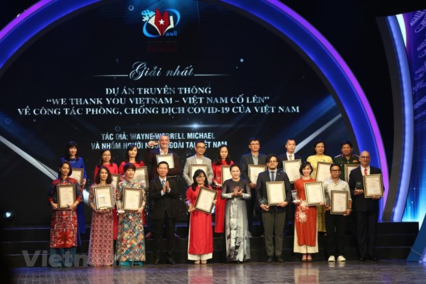 组图:2019年越南对外新闻奖颁奖典礼在河内举行 hinh anh 6