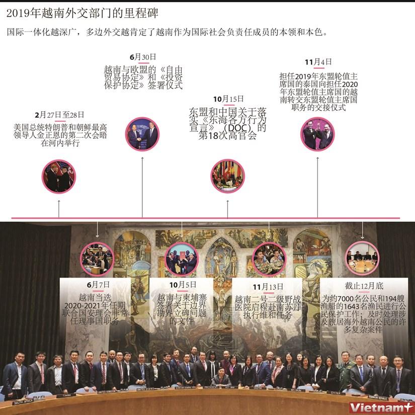 图表新闻:2019年越南外交部门的里程碑 hinh anh 1