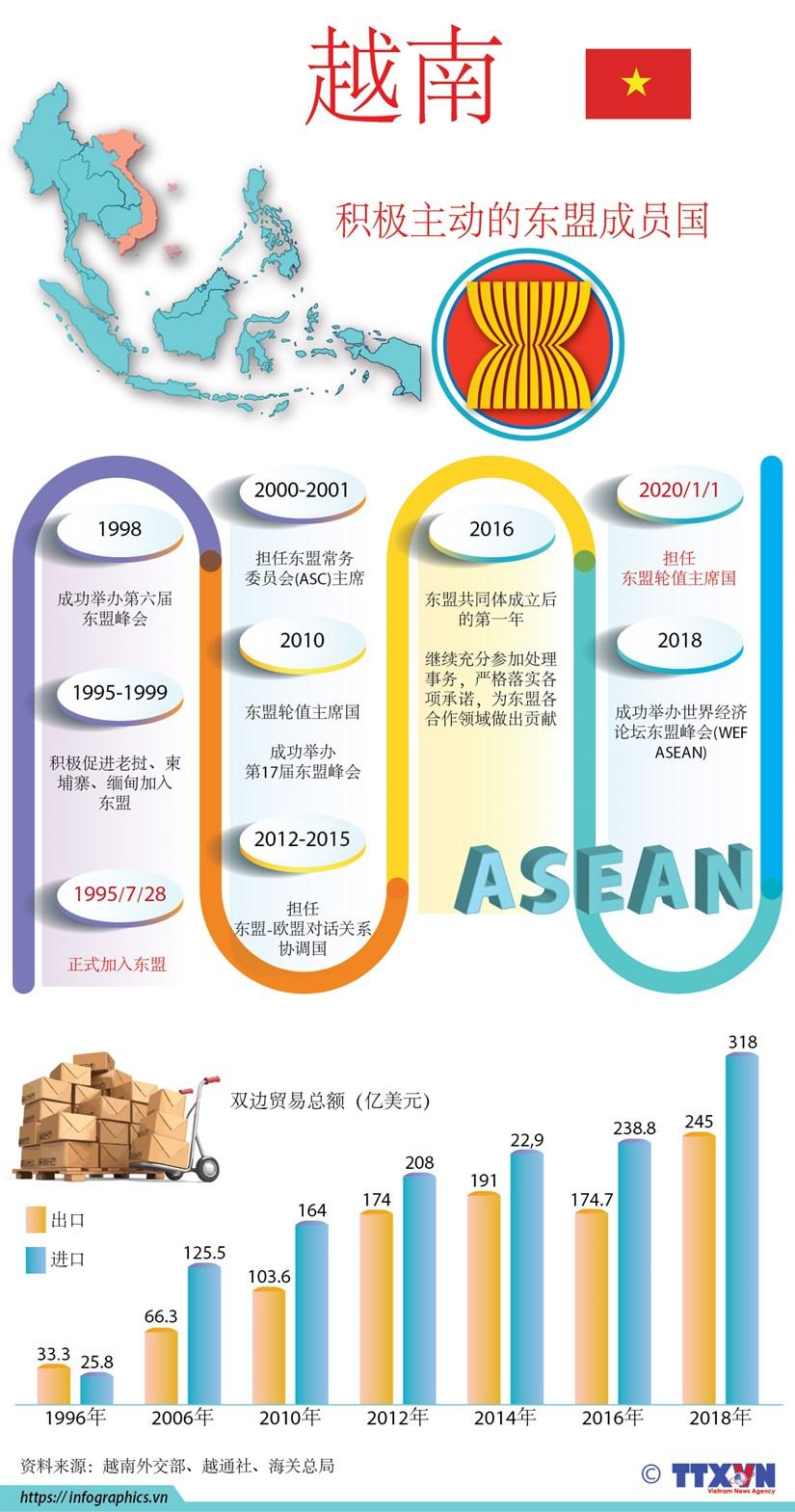 图表新闻:越南——积极主动的东盟成员国 hinh anh 1