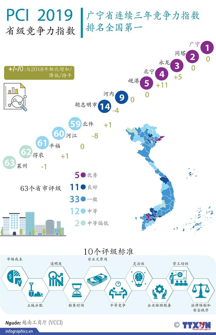 图表新闻:越南发布2019年省级竞争力指数 hinh anh 1