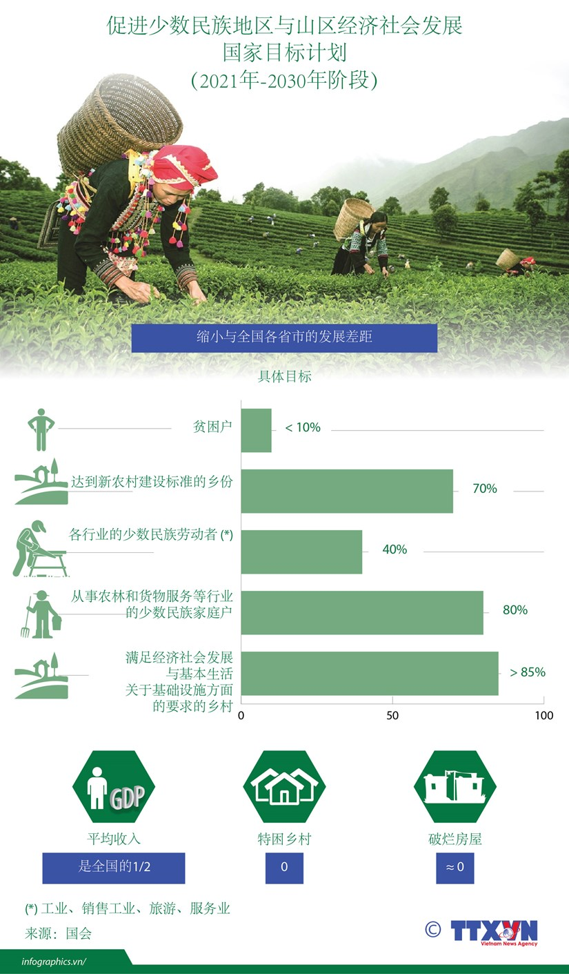 图表新闻:越南努力促进少数民族地区与山区经济社会发展 hinh anh 1