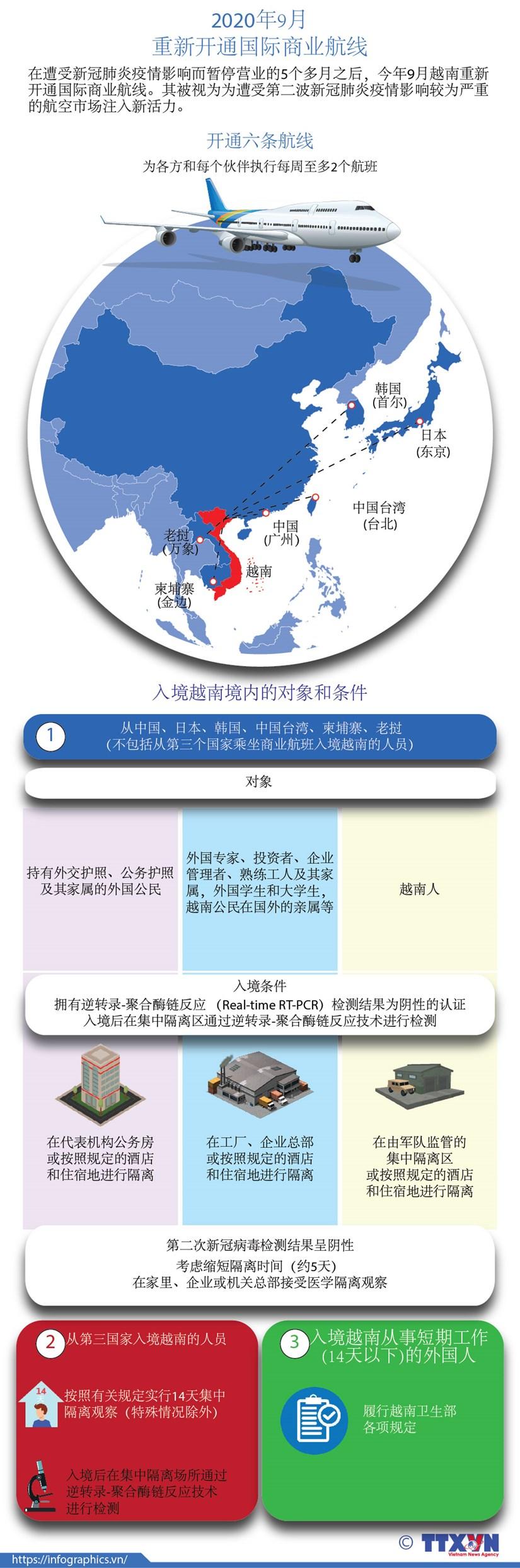 图表新闻:越南重新开通国际商业航线 hinh anh 1