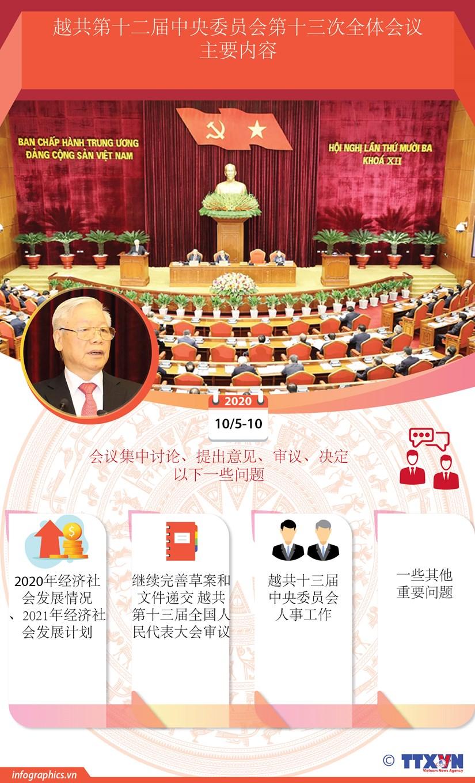 图表新闻:越共第十二届中央委员会第十三次全体会议主要内容 hinh anh 1