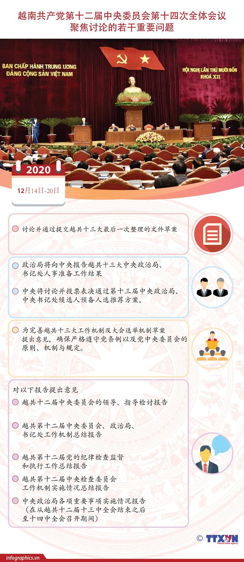 图表新闻:越共十二届十四中全会聚焦讨论若干重要问题 hinh anh 1