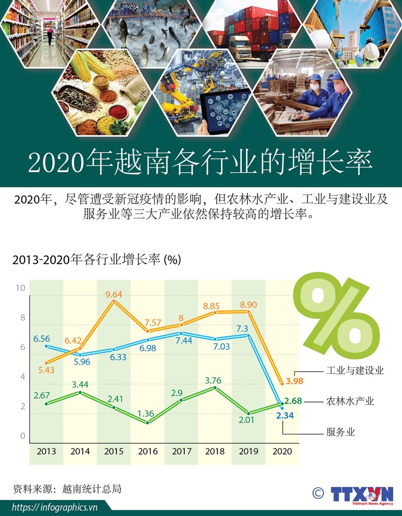 图表新闻:2020年越南各行业保持较高的增长率 hinh anh 1