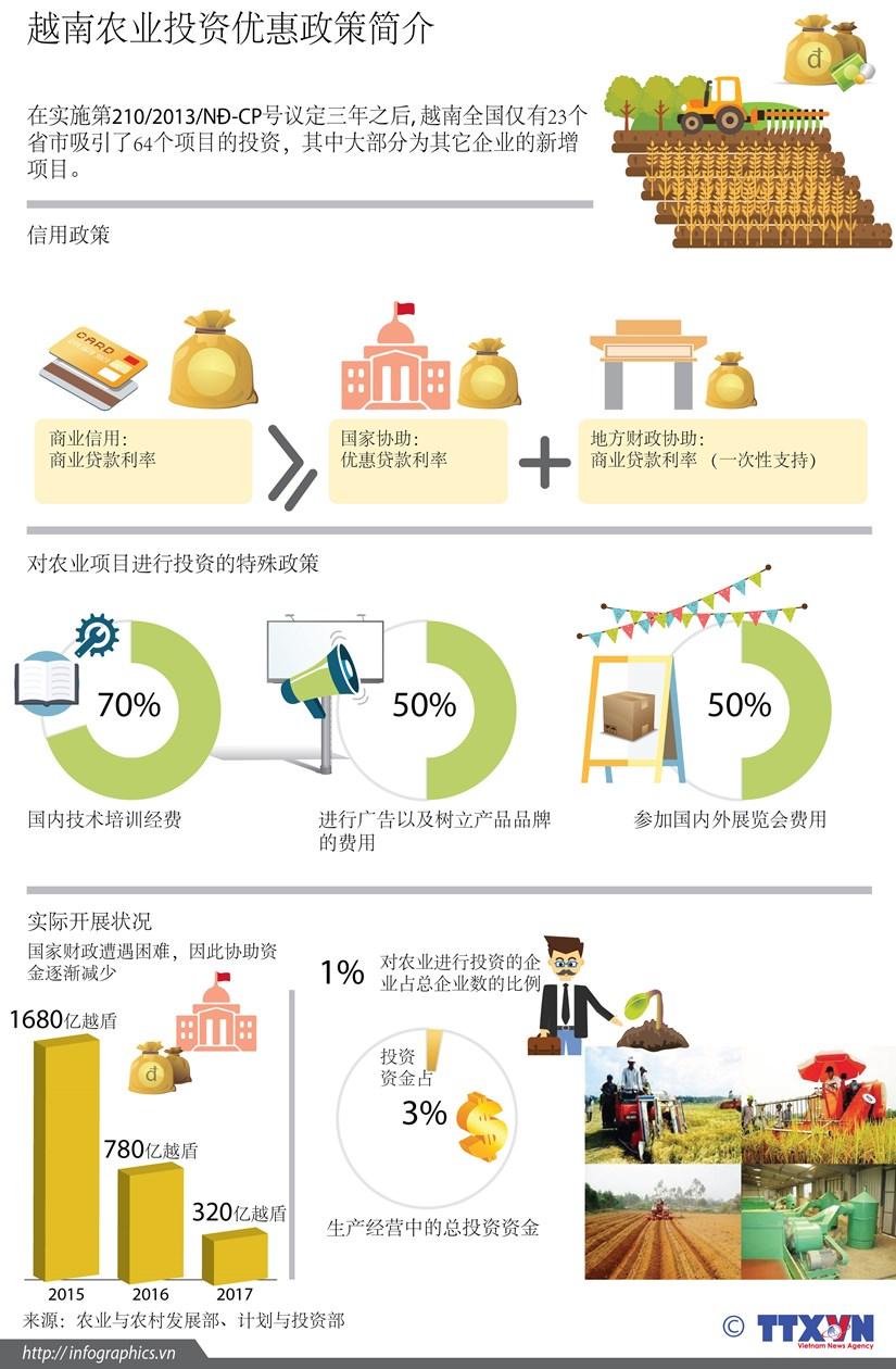 图表新闻:越南农业引资优惠政策简介 hinh anh 1