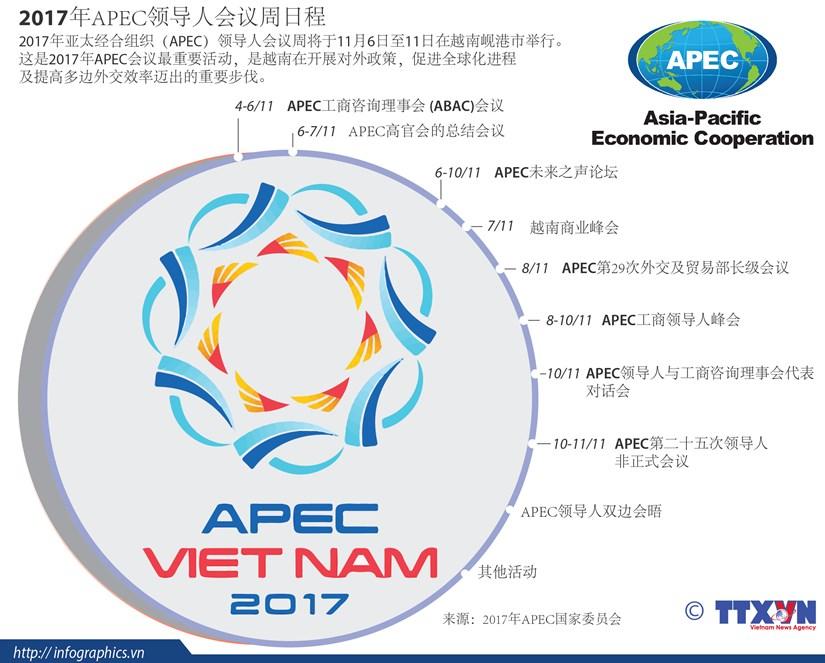 图表新闻:2017年APEC领导人会议周日程 hinh anh 1