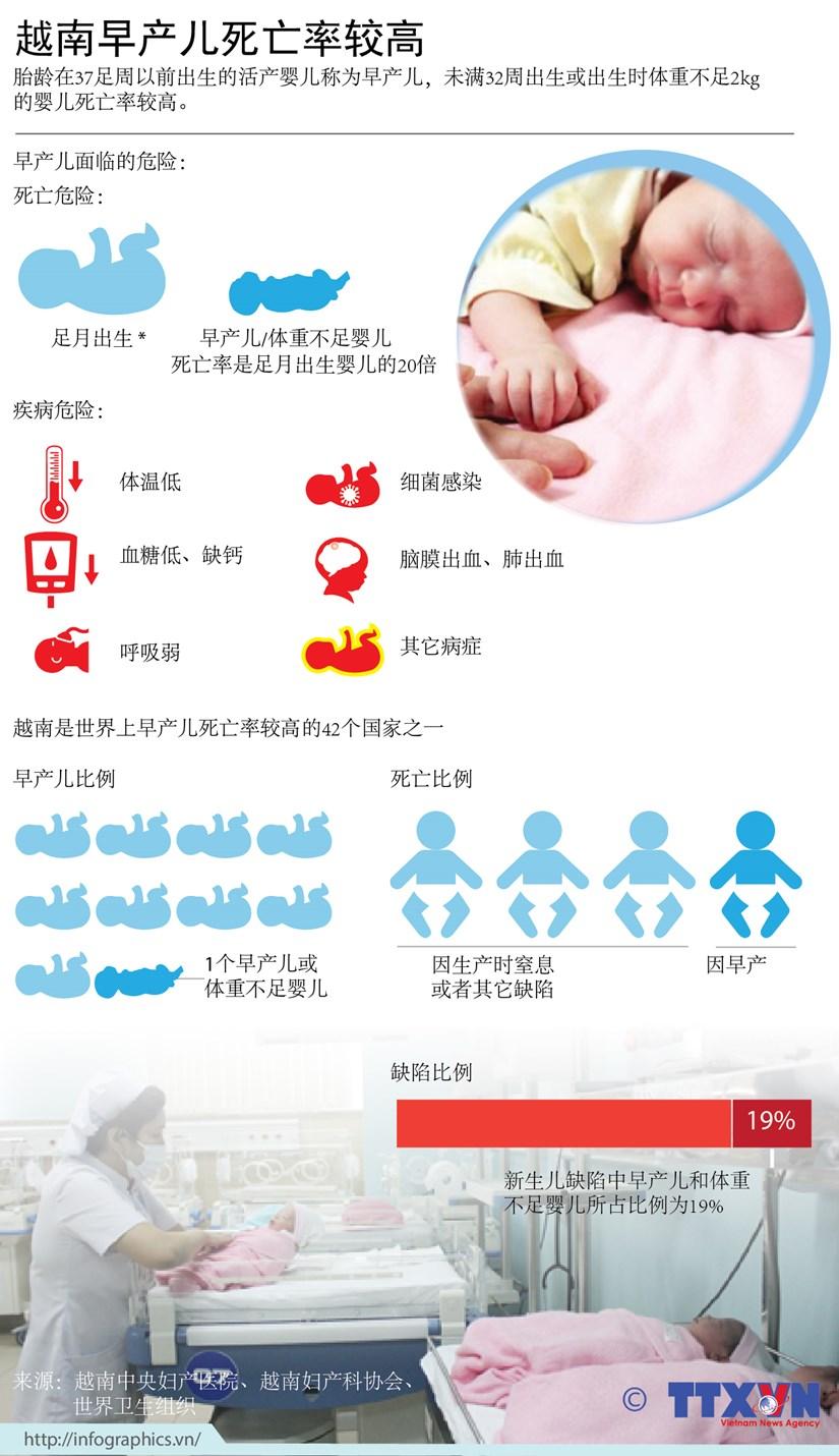 图表新闻:越南早产儿死亡率处于较高水平 hinh anh 1
