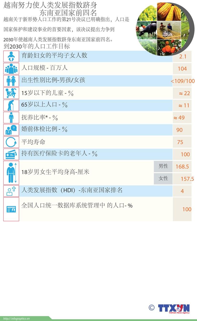 图表新闻:越南努力使人类发展指数跻身东南亚国家前四名 hinh anh 1