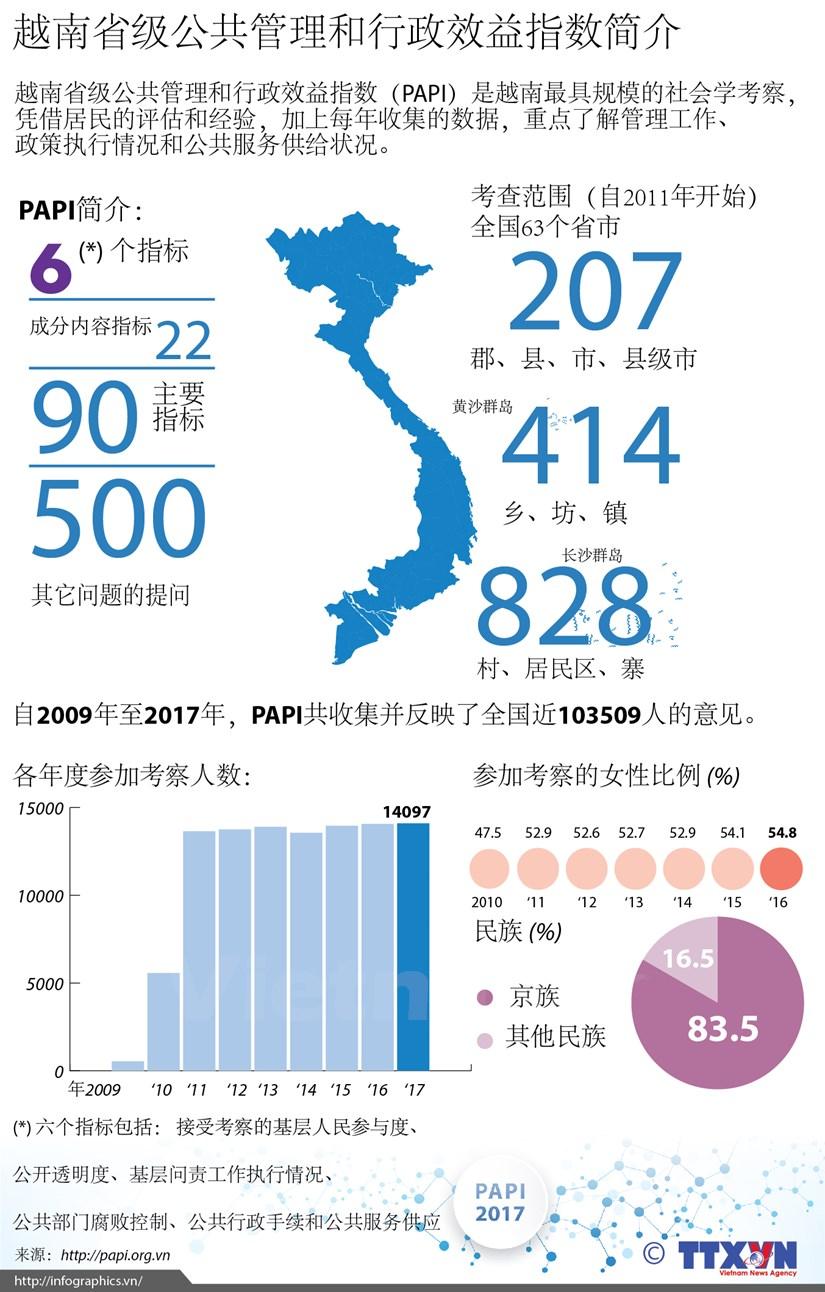 图表新闻:越南省级公共管理和行政效益指数简介 hinh anh 1