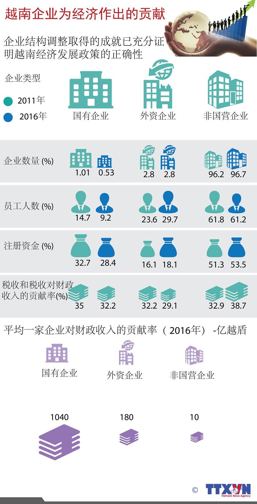 图表新闻:越南企业为经济作出的贡献 hinh anh 1