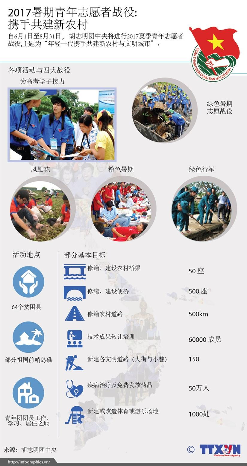 2017暑期青年志愿者战役: 携手共建新农村 hinh anh 1