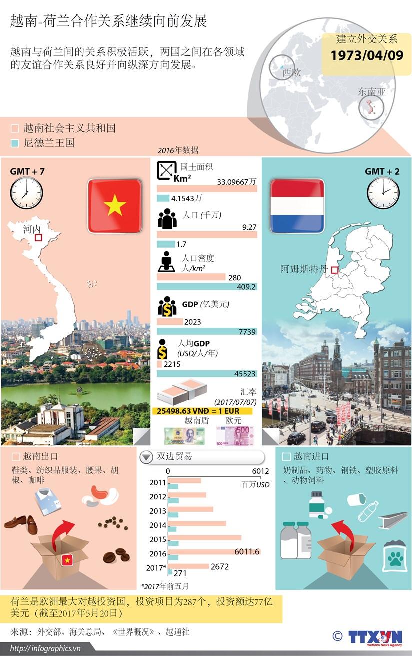 图表新闻:越南-荷兰合作关系继续向前发展 hinh anh 1