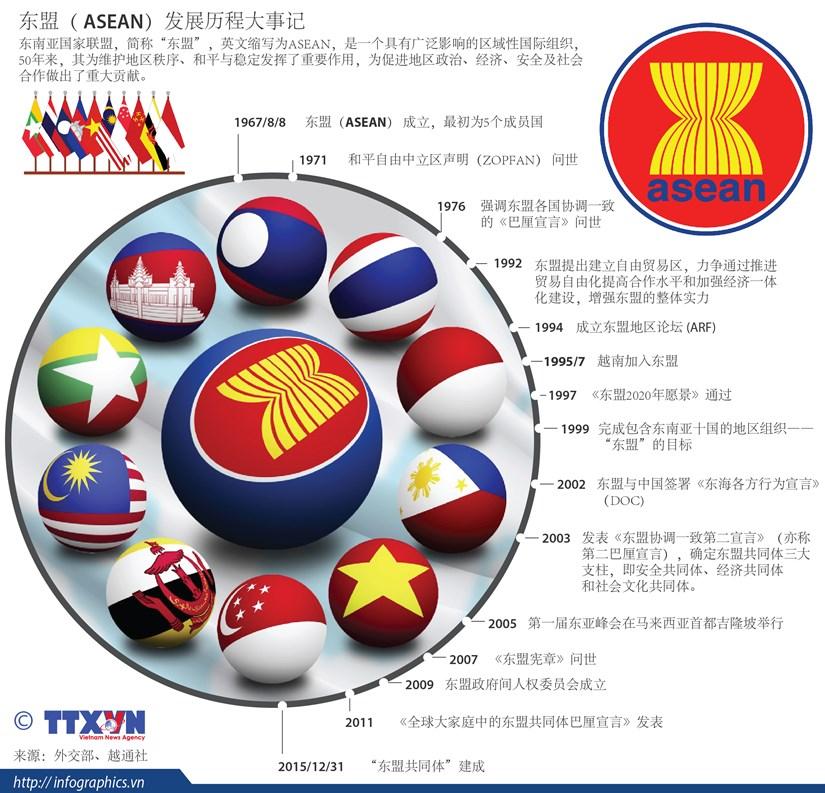图表新闻:东盟发展历程大事记 hinh anh 1