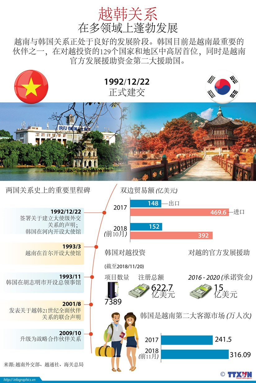 图表新闻:越韩关系在多领域上蓬勃发展 hinh anh 1