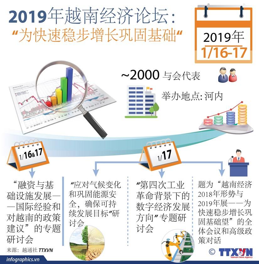 """图表新闻:2019年越南经济论坛 """"为快速稳步增长巩固基础"""" hinh anh 1"""