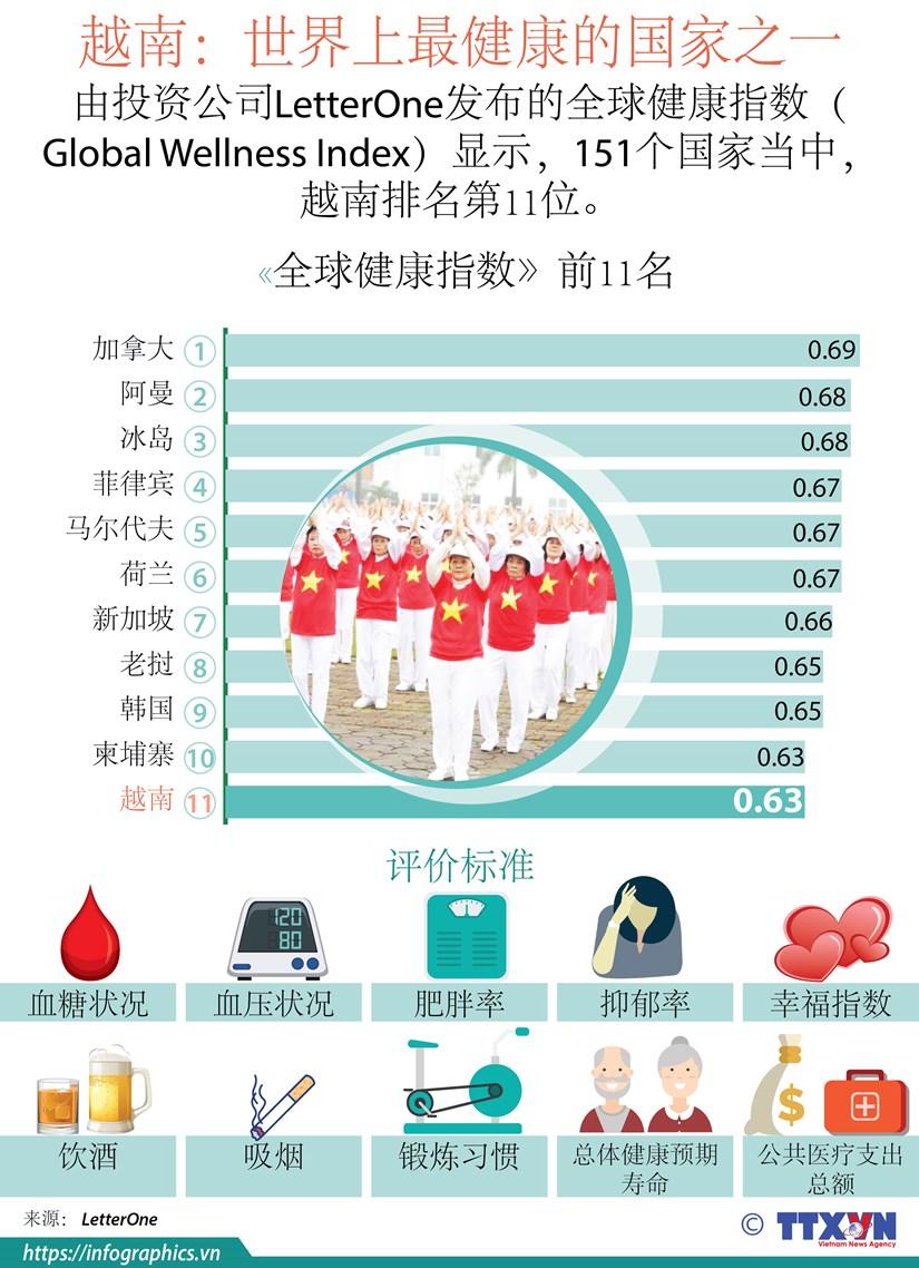 图表新闻:越南——世界上最健康的国家之一 hinh anh 1