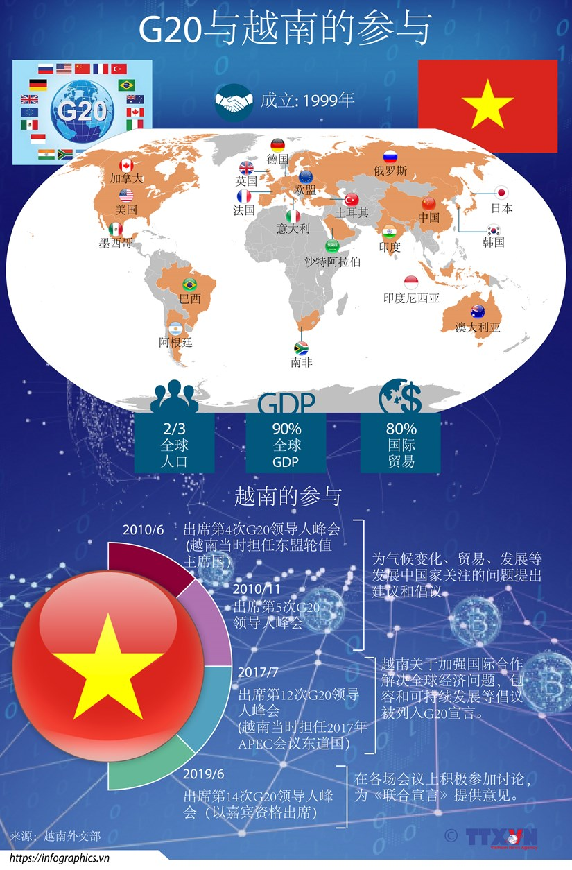 图表新闻:G20与越南的参与 hinh anh 1