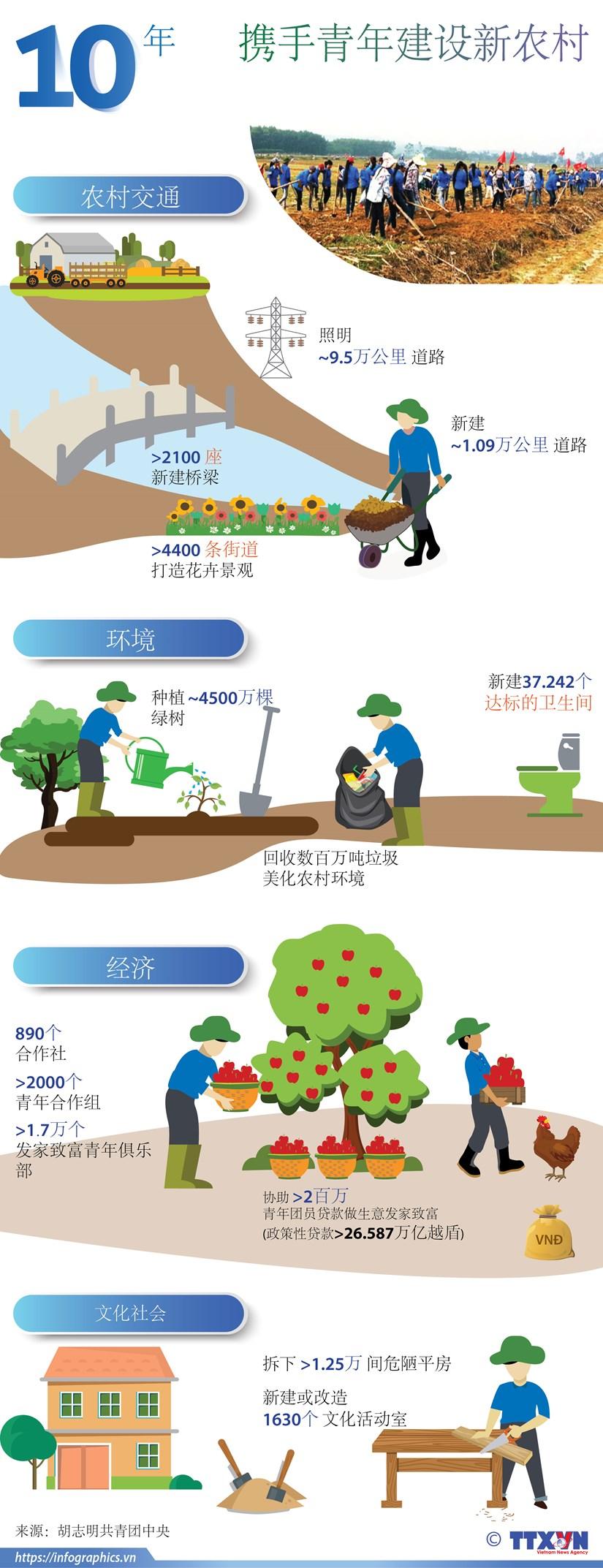 图表新闻:携手青年建设新农村 hinh anh 1