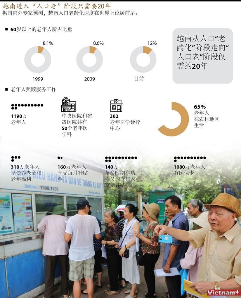"""图表新闻:越南进入""""人口老""""阶段只需要20年 hinh anh 1"""