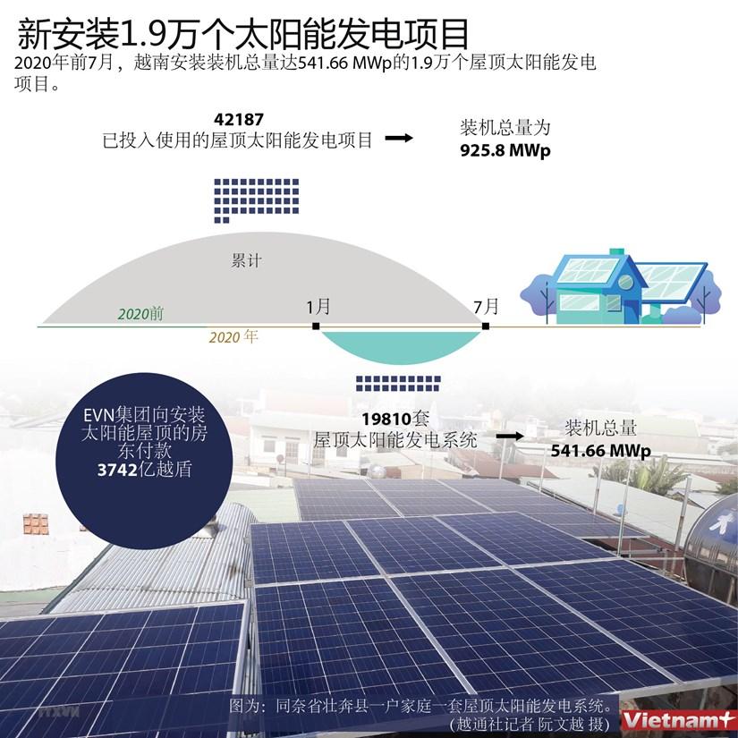 图表新闻:新安装1.9万个太阳能发电项目 hinh anh 1