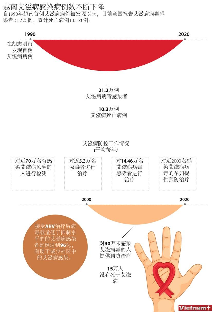 图表新闻:越南艾滋病感染病例数不断下降 hinh anh 1
