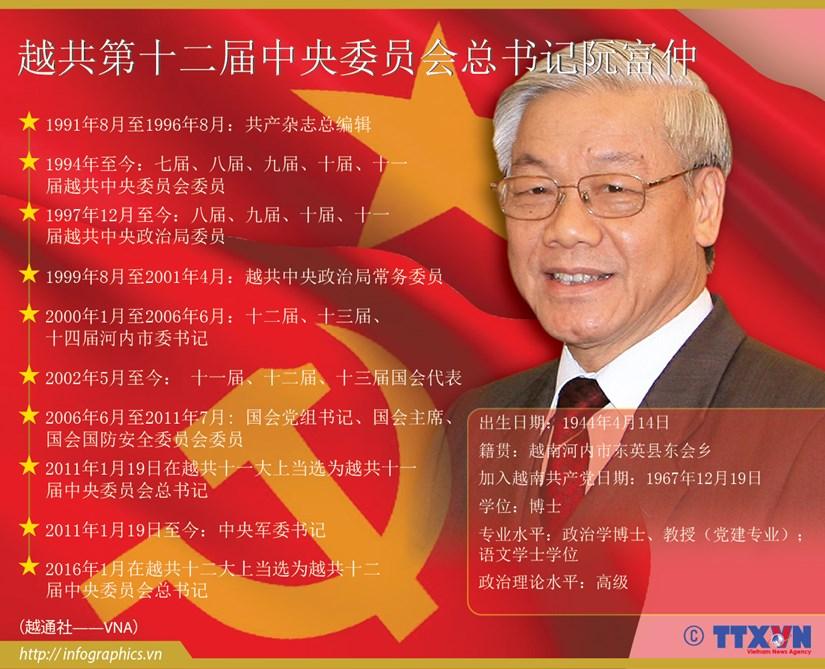 越共第十二届中央委员会总书记阮富仲 hinh anh 1